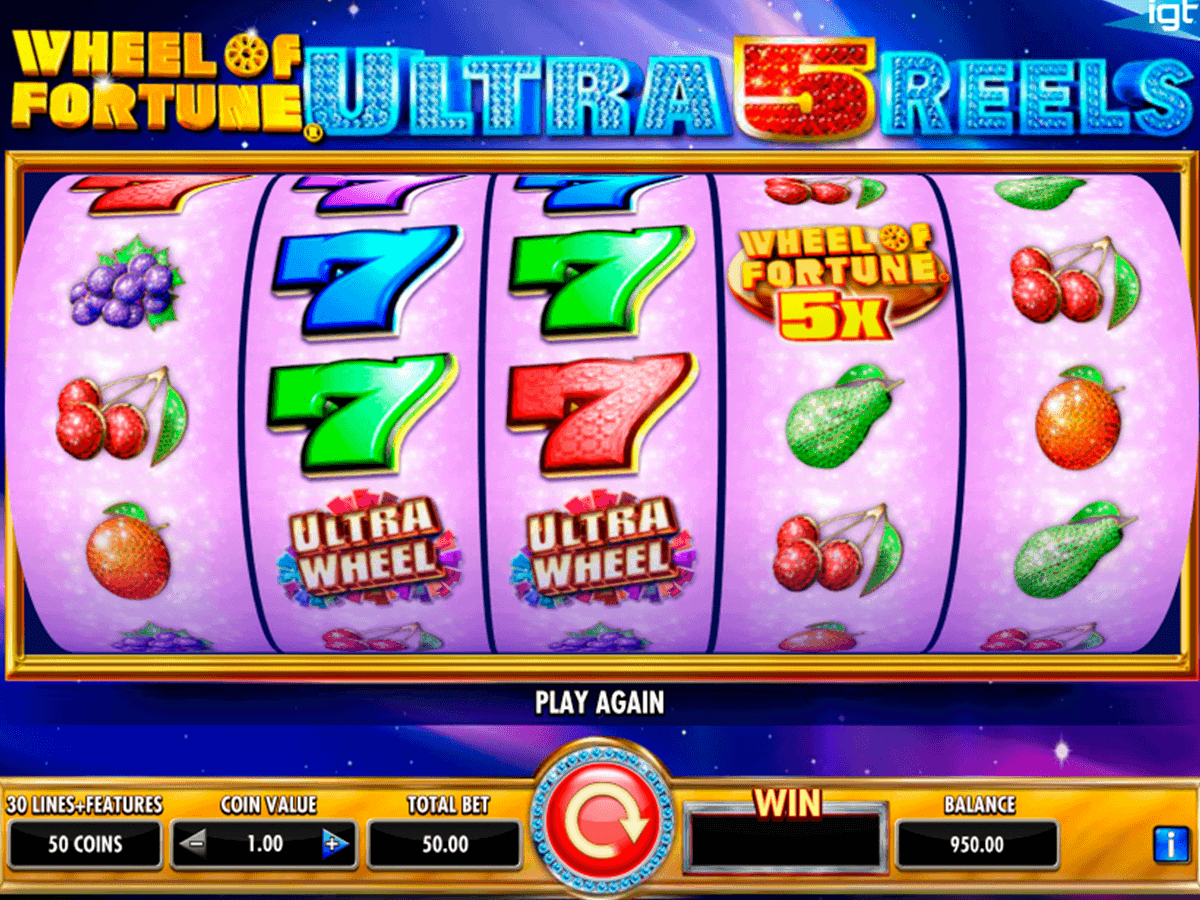 wheel of fortune ultra  reels igt spelautomat