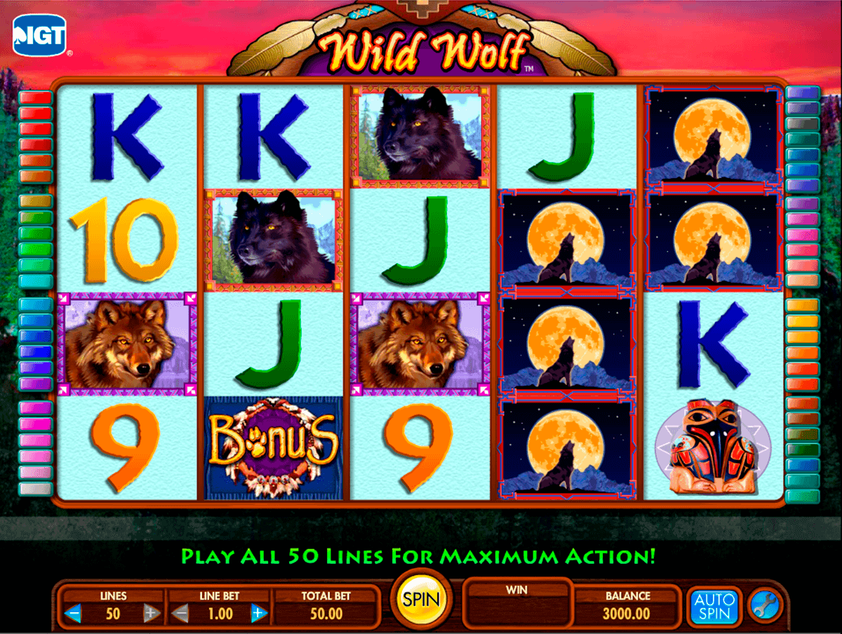 wild wolf igt spelautomat
