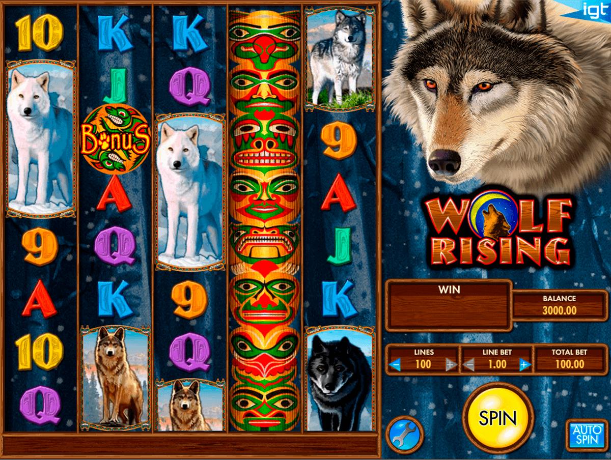 wolf rising igt spelautomat