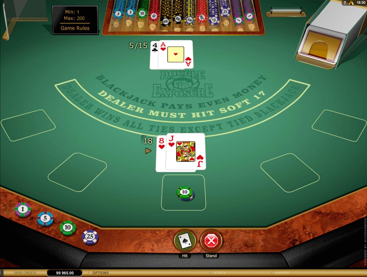 double exposure blackjack gold microgaming