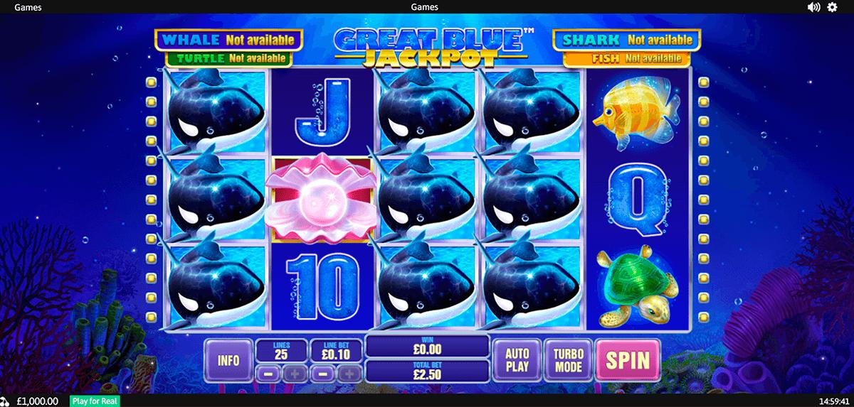 great blue jackpot playtech