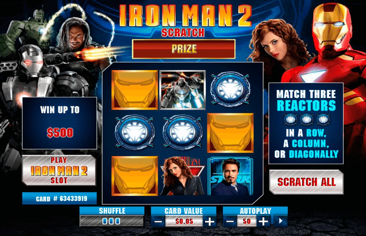 iron man 2 scratch playtech