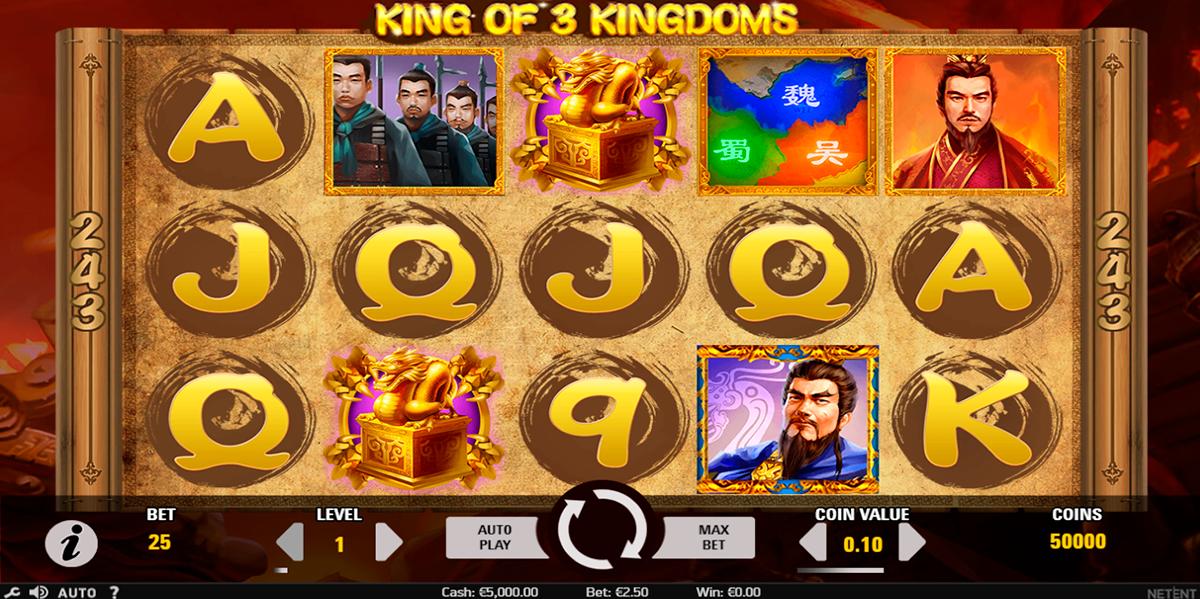 king of 3 kingdoms netent
