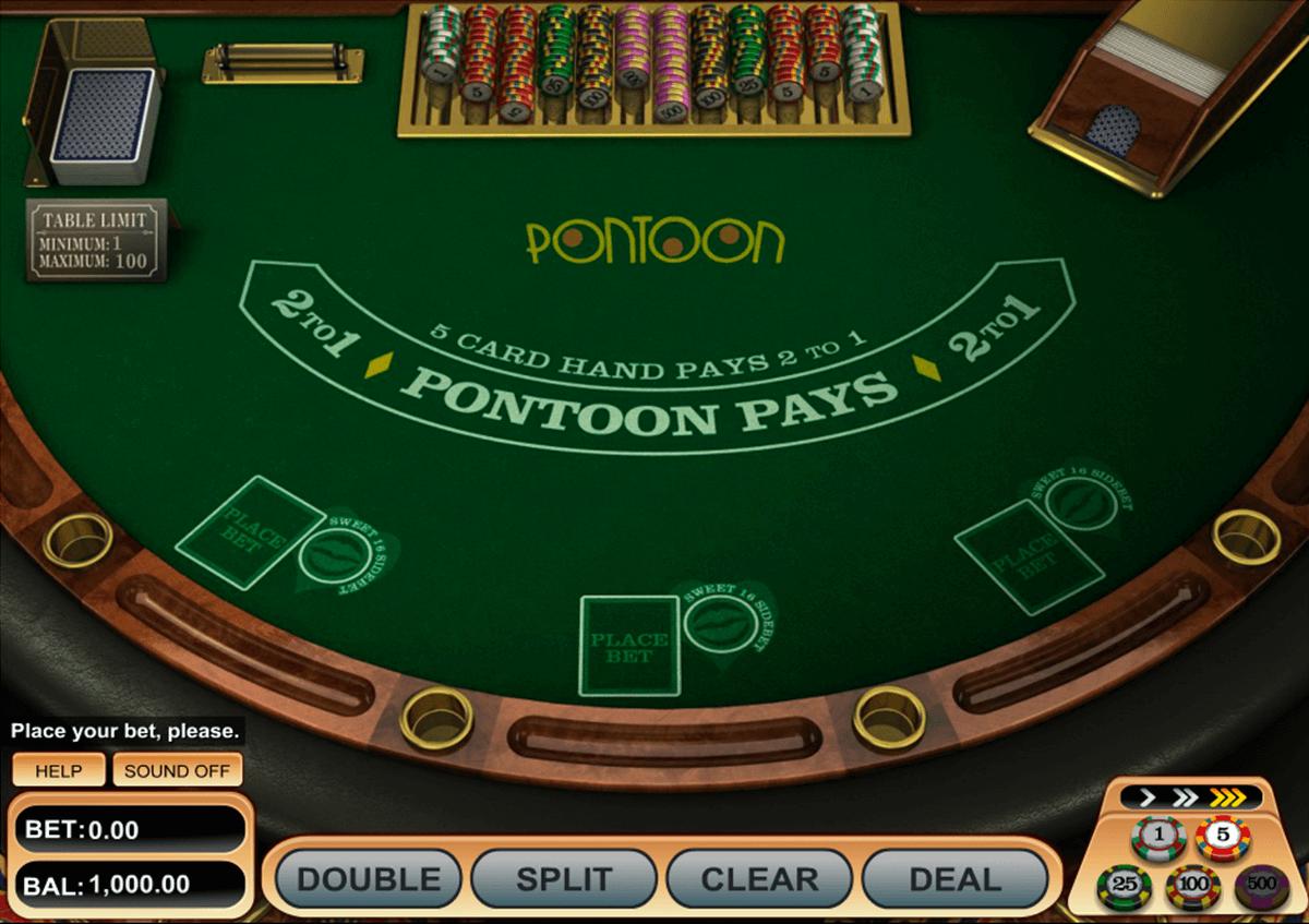 pontoon blackjack betsoft