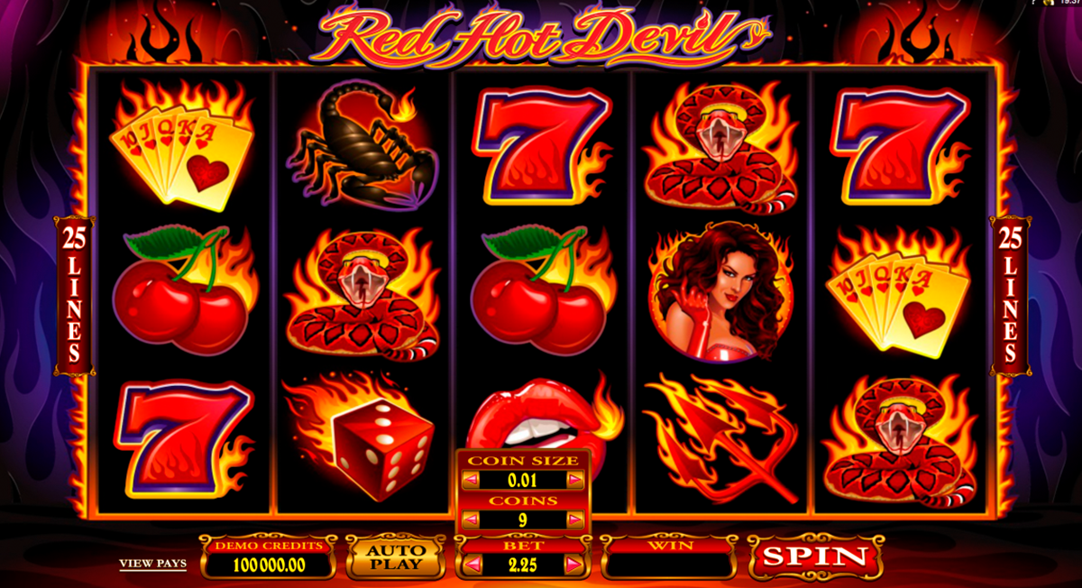 red hot devil microgaming