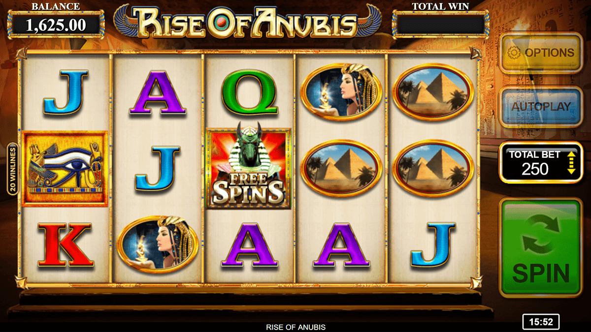 rise of anubis inspired gaming