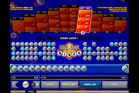super bonus bingo microgaming