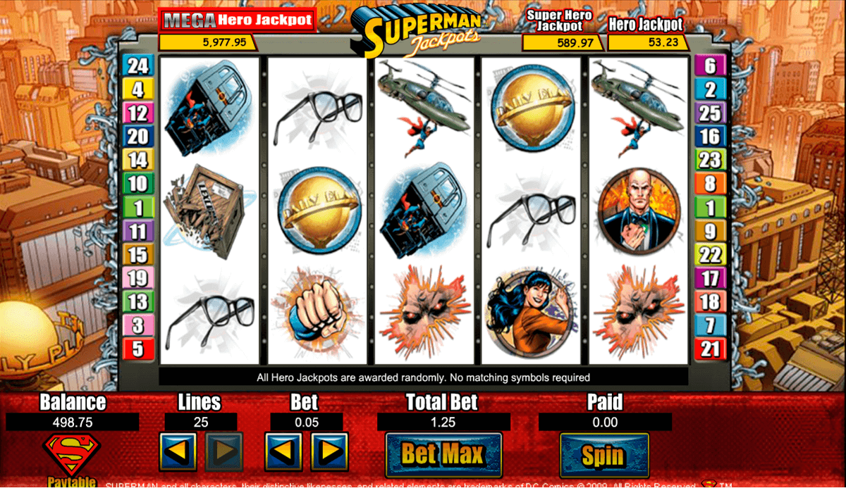 superman jackpots amaya