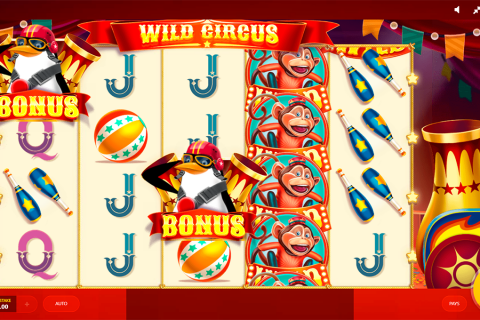 wild circus red tiger